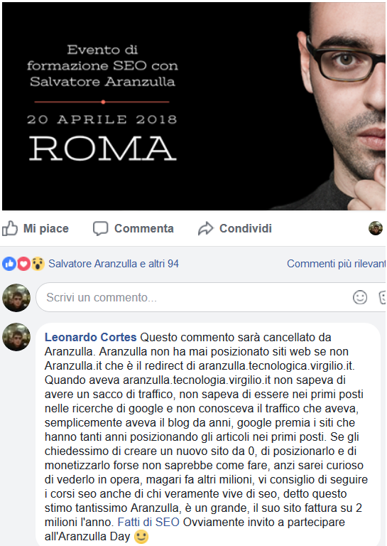Cos'è l'aranzulla day