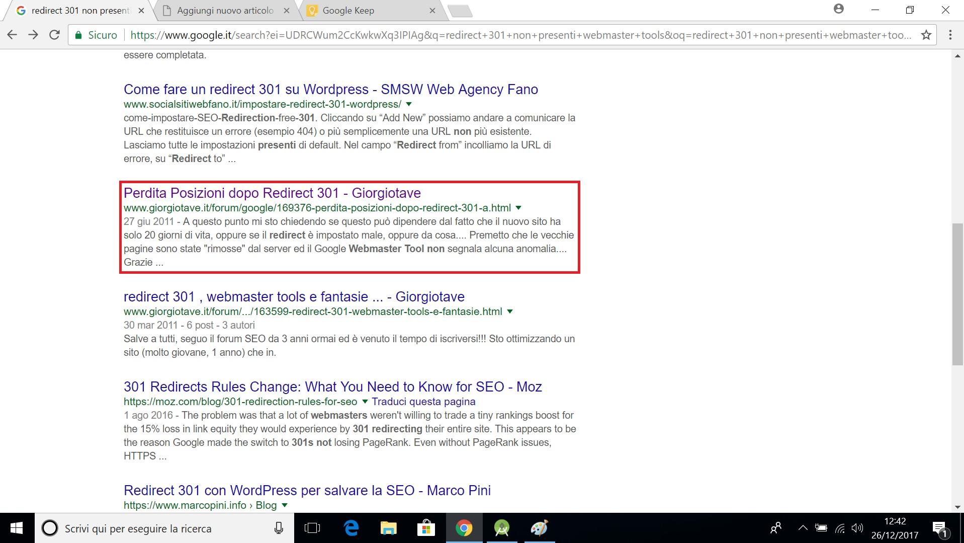 Giorgio Tave risultato su ricerca google