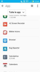 Voce impostazione App