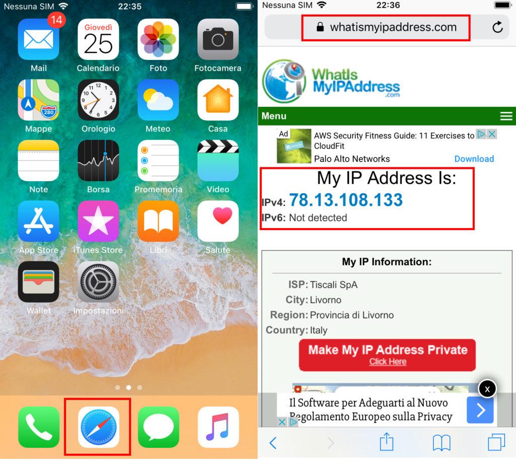 Come trovare l'indirizzo ip pubblico del cellulare