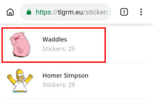 Download Stickers da sito web
