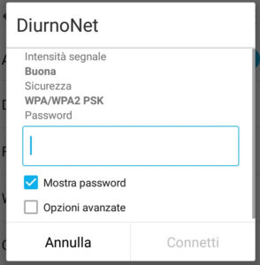 Problema autenticazione Wifi Android