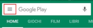 Apri impostazioni Google Play