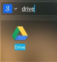 Aprire l'app di Google Drive