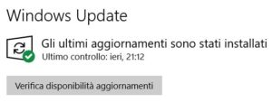Come aggiornare Windows 10