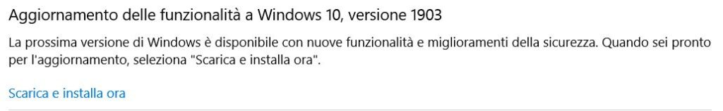 come aggiornare Windows 10 aggiornamento maggio 2019