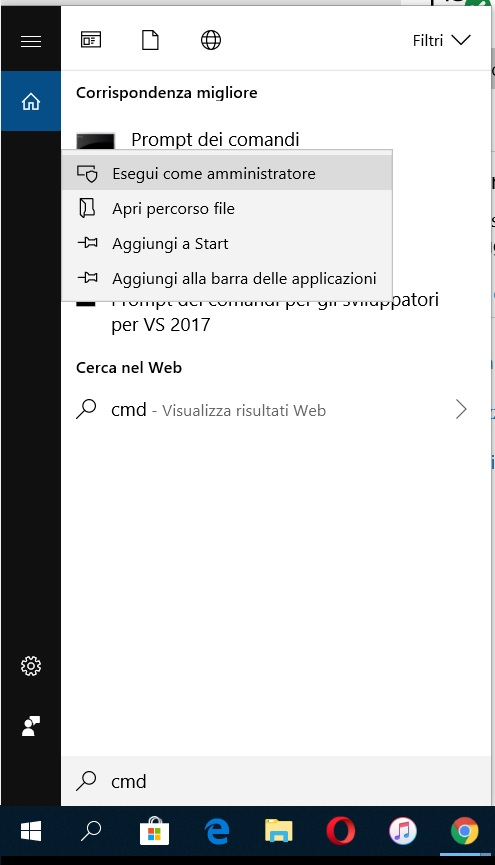 come aggiornare Windows 10 prompt dei comandi