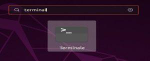 Ricerca terminal Ubuntu da tutte la applicazioni Unity